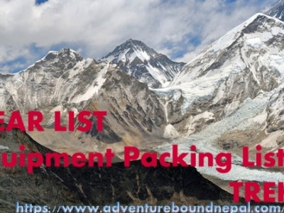 Recommended gear and equipment list for trekking in Nepal